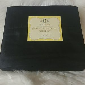Clara Clark 820 Black King Size Sheet Set